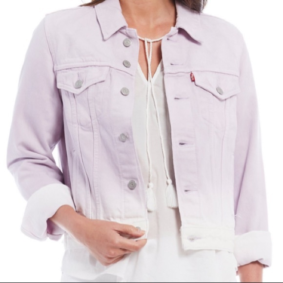 NEW Levi's Jean Trucker Lavender Ombre Jacket